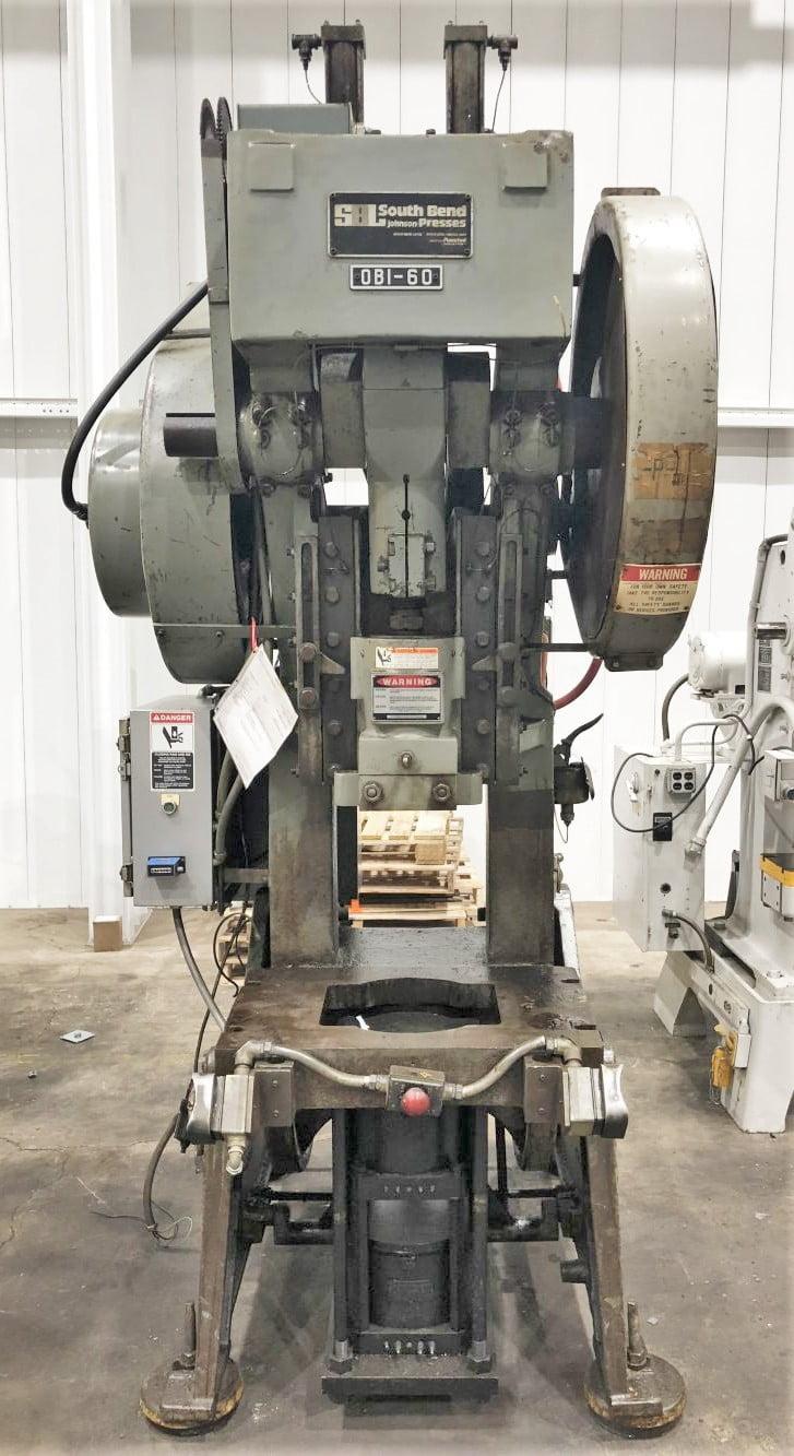 60 ton press used u2022 south bend johnson 60bg ac 3 h 1 press for sale rh almamachinery com 600 Ton Eccentric Press 10 Ton Obi Press