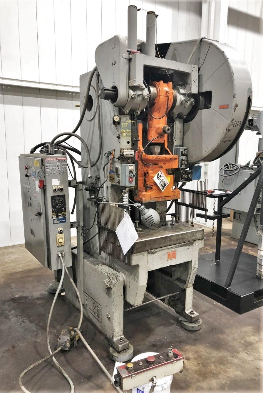 60 Ton Bliss Used Press • 60 Ton OBI Flywheel Type Press